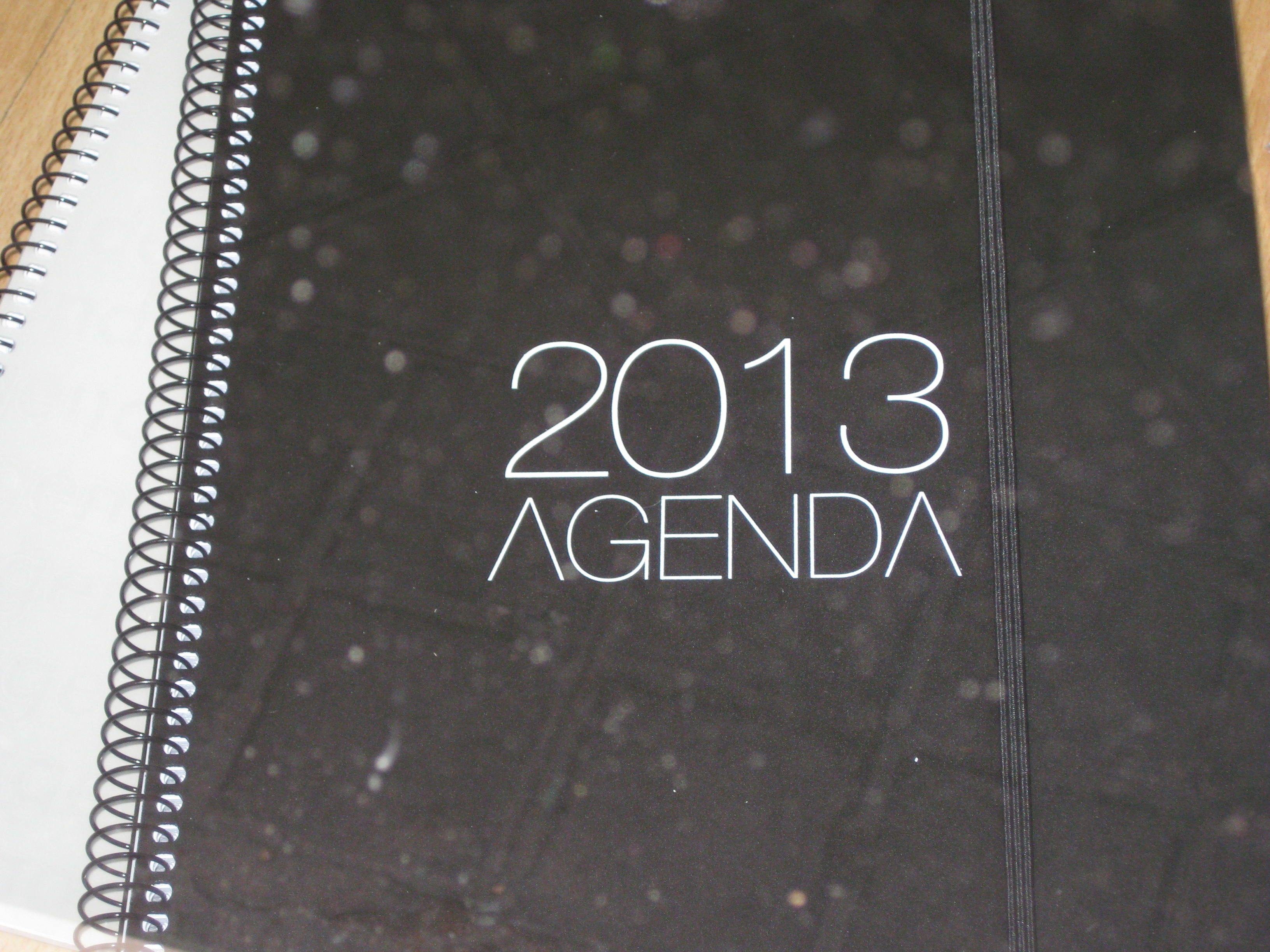 Agenda Colorea Negra
