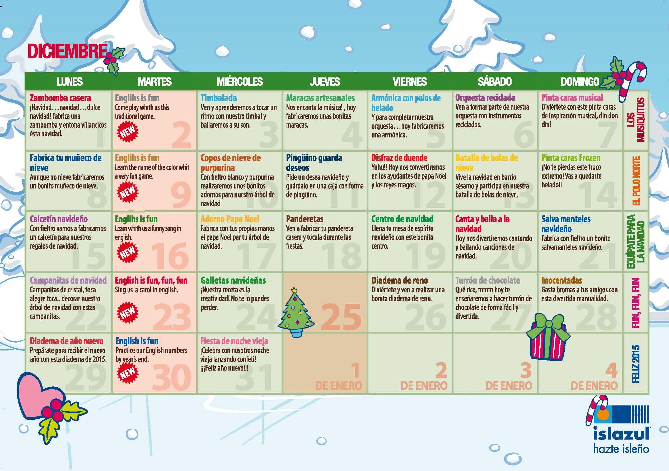 Agenda navideña de Colorea Madrid. Del 19 de diciembre de 2104 al 8 ...
