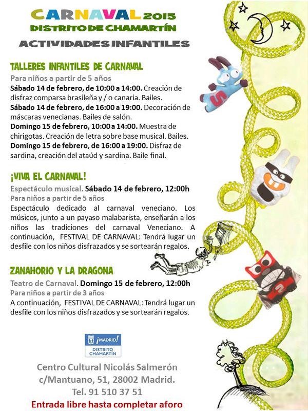 Carnaval 2015 en el Centro Cultural Nicolas Salmerón