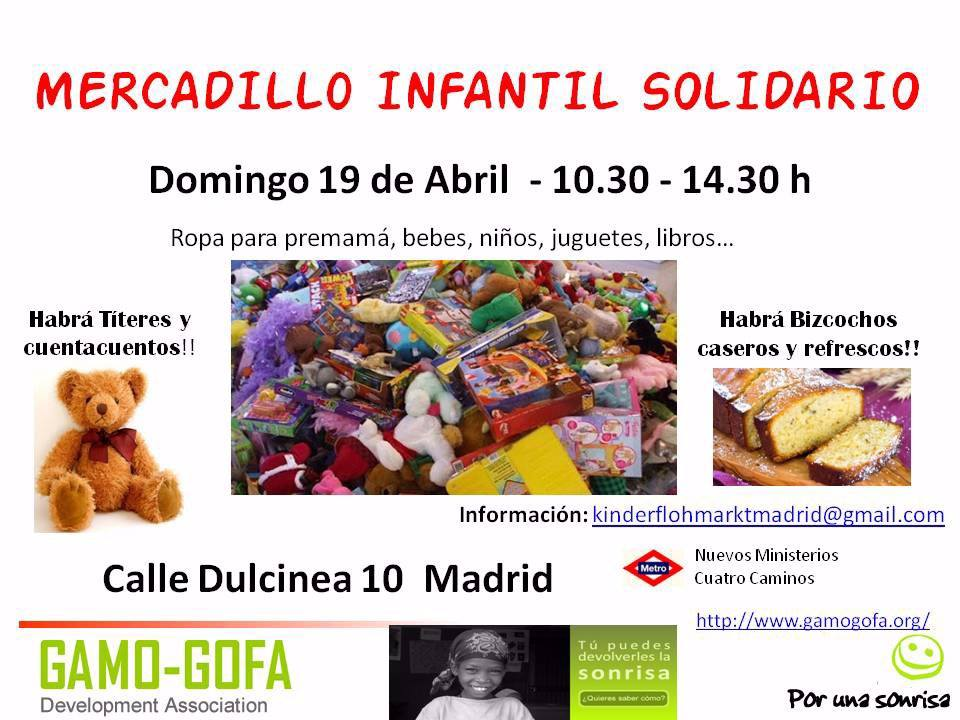 Mercadillo Infantil Solidario Calle Dulcinea