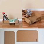 Cama cartón muñecas