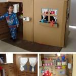 Casa cartón infantil