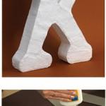 Iniciales papel mache