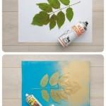 Pintando siluetas de hojas