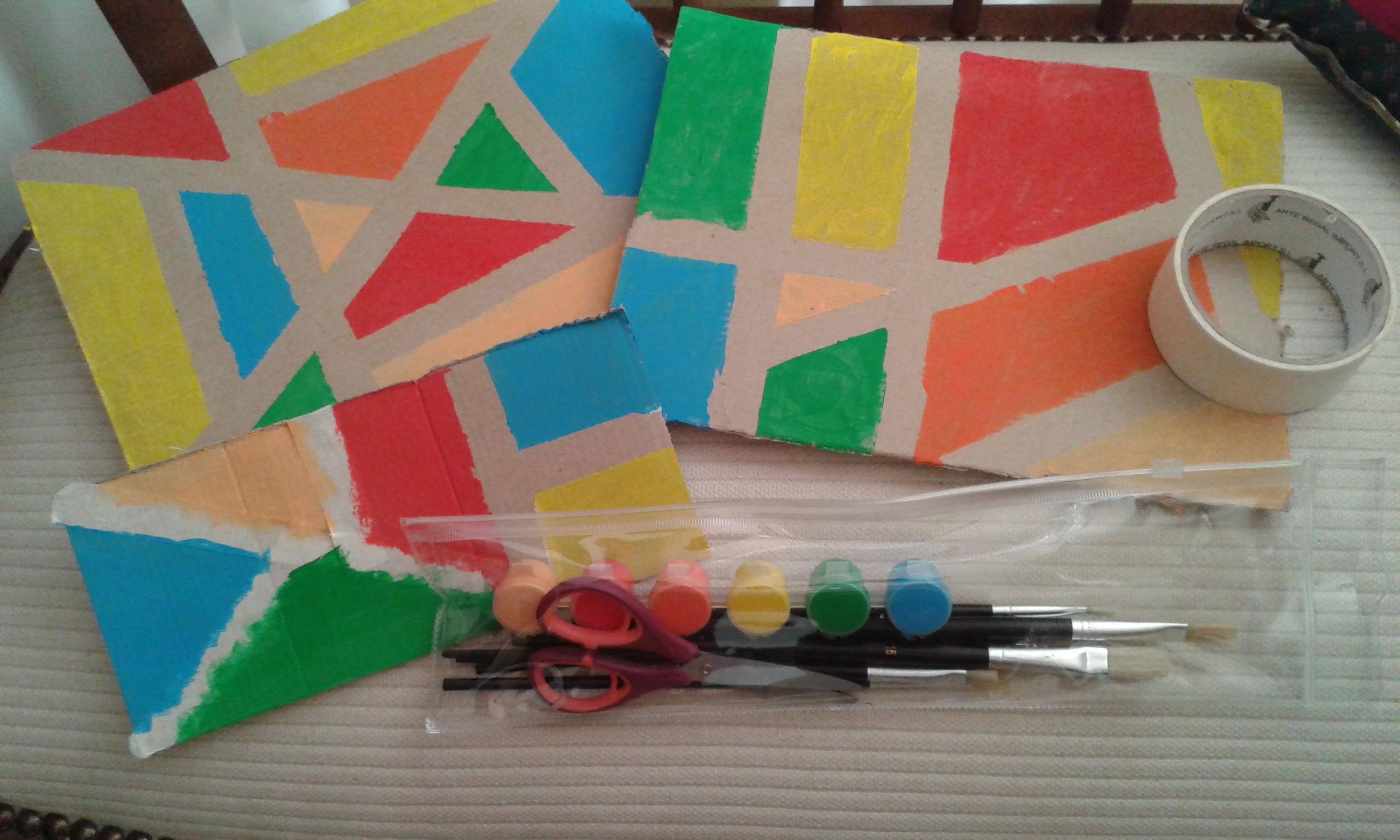 Pintamos figuras geométricas con cinta de pintor
