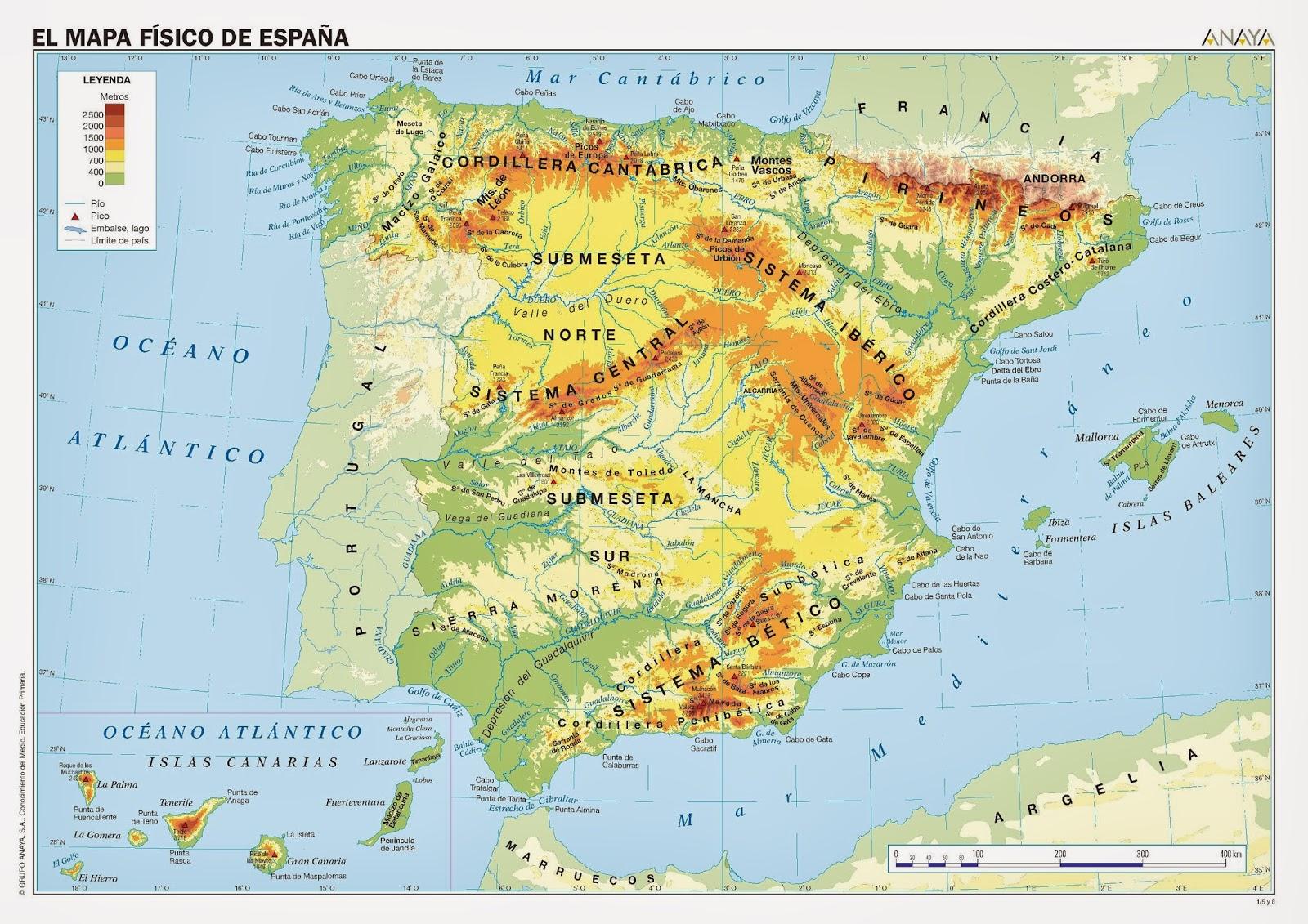 mapa-físico de España